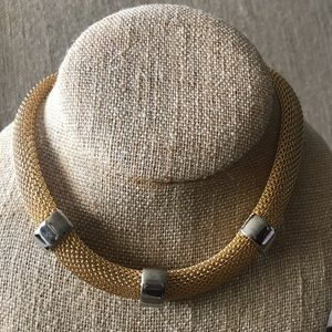 Vintage Choker - Gold with Silver accents